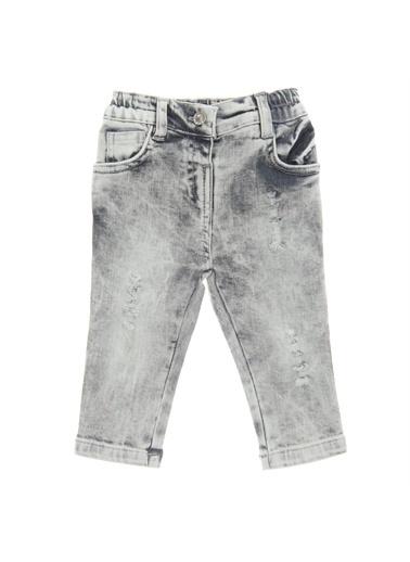 Panço Kız Bebek Denim Pantolon 18221096100 Gri